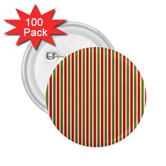 Pattern Background Red White Green 2 25  Buttons (100 Pack)