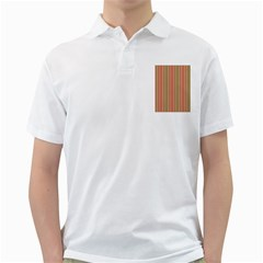 Pattern Background Red White Green Golf Shirts