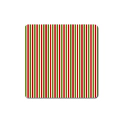 Pattern Background Red White Green Square Magnet