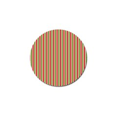 Pattern Background Red White Green Golf Ball Marker (4 Pack)