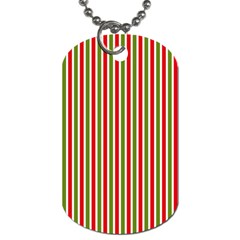 Pattern Background Red White Green Dog Tag (two Sides)