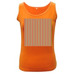 Pattern Background Red White Green Women s Dark Tank Top