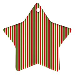 Pattern Background Red White Green Star Ornament (two Sides)