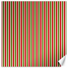 Pattern Background Red White Green Canvas 16  X 16