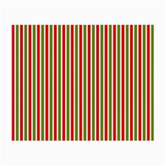Pattern Background Red White Green Small Glasses Cloth (2 Side)