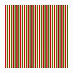 Pattern Background Red White Green Medium Glasses Cloth (2 Side)