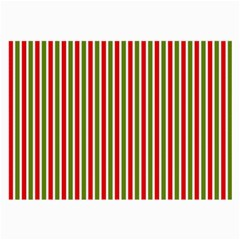 Pattern Background Red White Green Large Glasses Cloth (2 Side)