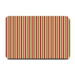 Pattern Background Red White Green Small Doormat