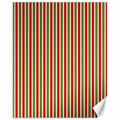 Pattern Background Red White Green Canvas 11  X 14
