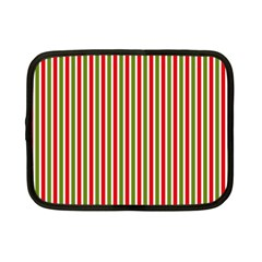 Pattern Background Red White Green Netbook Case (small)