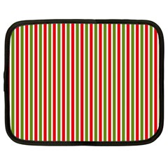 Pattern Background Red White Green Netbook Case (large)