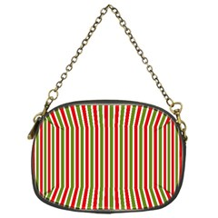 Pattern Background Red White Green Chain Purses (one Side)