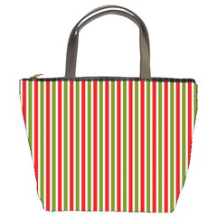 Pattern Background Red White Green Bucket Bags