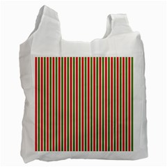 Pattern Background Red White Green Recycle Bag (One Side)