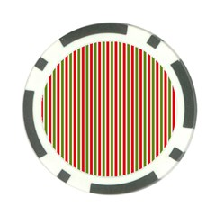 Pattern Background Red White Green Poker Chip Card Guards (10 Pack)