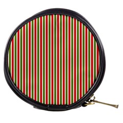 Pattern Background Red White Green Mini Makeup Bags