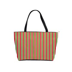 Pattern Background Red White Green Shoulder Handbags
