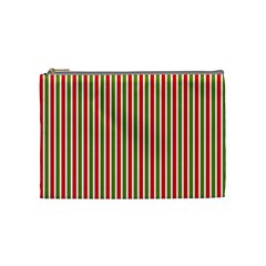 Pattern Background Red White Green Cosmetic Bag (medium)