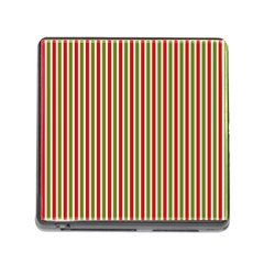 Pattern Background Red White Green Memory Card Reader (square)