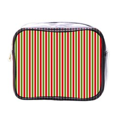 Pattern Background Red White Green Mini Toiletries Bags
