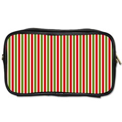 Pattern Background Red White Green Toiletries Bags 2-Side