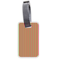 Pattern Background Red White Green Luggage Tags (one Side)