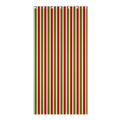Pattern Background Red White Green Shower Curtain 36  x 72  (Stall)