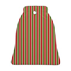 Pattern Background Red White Green Bell Ornament (2 Sides)