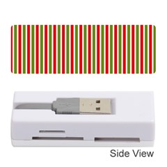 Pattern Background Red White Green Memory Card Reader (stick)