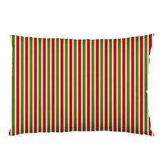 Pattern Background Red White Green Pillow Case (two Sides)