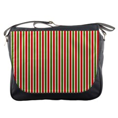 Pattern Background Red White Green Messenger Bags