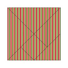 Pattern Background Red White Green Acrylic Tangram Puzzle (6  X 6 )