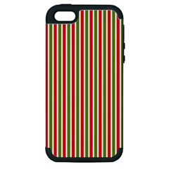 Pattern Background Red White Green Apple Iphone 5 Hardshell Case (pc+silicone)