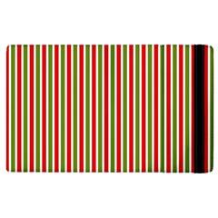 Pattern Background Red White Green Apple Ipad 2 Flip Case