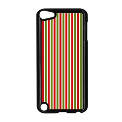 Pattern Background Red White Green Apple Ipod Touch 5 Case (black)