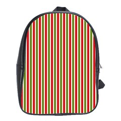 Pattern Background Red White Green School Bags (xl)