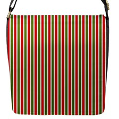 Pattern Background Red White Green Flap Messenger Bag (s)