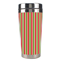 Pattern Background Red White Green Stainless Steel Travel Tumblers
