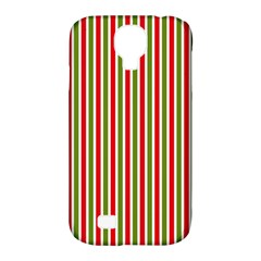 Pattern Background Red White Green Samsung Galaxy S4 Classic Hardshell Case (pc+silicone)
