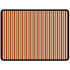 Pattern Background Red White Green Double Sided Fleece Blanket (large)