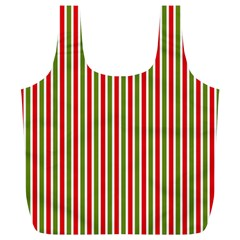 Pattern Background Red White Green Full Print Recycle Bags (l)