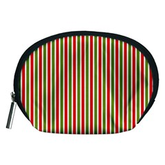 Pattern Background Red White Green Accessory Pouches (medium)