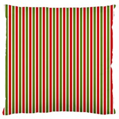Pattern Background Red White Green Large Flano Cushion Case (one Side)