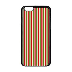Pattern Background Red White Green Apple Iphone 6/6s Black Enamel Case