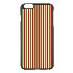 Pattern Background Red White Green Apple Iphone 6 Plus/6s Plus Black Enamel Case