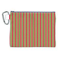 Pattern Background Red White Green Canvas Cosmetic Bag (xxl)