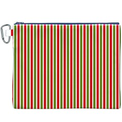 Pattern Background Red White Green Canvas Cosmetic Bag (xxxl)
