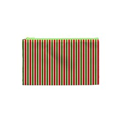 Pattern Background Red White Green Cosmetic Bag (xs)
