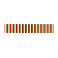 Pattern Background Red White Green Flano Scarf (mini)