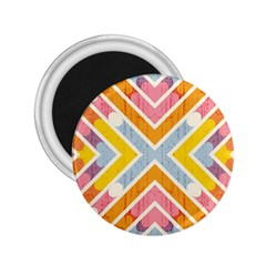 Line Pattern Cross Print Repeat 2.25  Magnets